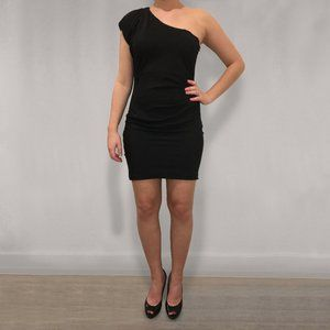 Mystic One Shoulder Black Mini Dress